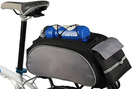 Cycling Rack Bag Bike Bicycle Rear Trunk Bag Luggage Carry Pannier Bag Blue