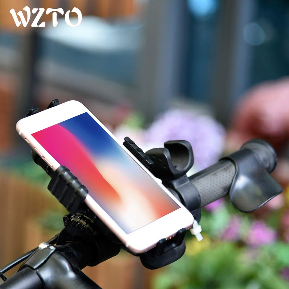 Adjustable Motorcycle Holder Mountain Cycling Accessories Bike Phone Mount Universal Bicycle Phone Stand Holder Bike Handlebar Cellphones Cradle for iPhone XS//8//8 Plus//7//7 Plus//6//6s//6s Plus Samsung Galaxy S10//S9//S8