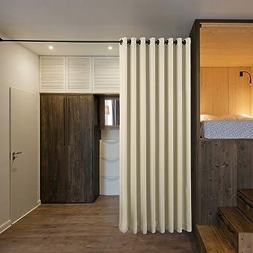 Amazonde Büro Schlafzimmer Wohnzimmer Raumteiler Vorhang PONY - Trennwand schlafzimmer