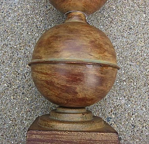 Architectural 23'' High Cone-spherical Finial - Tin and Cast Iron