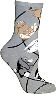 product image for Wheel House Designs Bunnies Womens Argyle Socks (Shoe size 6-8.5)