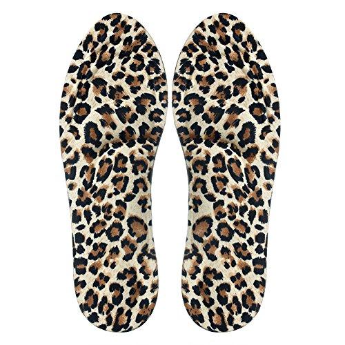 cici store 1 Pair 3D Sponge Soft Insole Comfort High Heel Shoe Pad Pain Relief Insert Cushion Pad (Leopard Print)