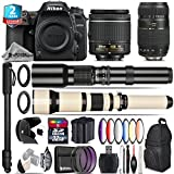 Holiday Saving Bundle for D7500 DSLR Camera + 650-1300mm Telephoto Lens + Tamron 70-300mm Di LD Lens + AF-P 18-55mm + 500mm Telephoto Lens + 6PC Graduated Color Filter - International Version