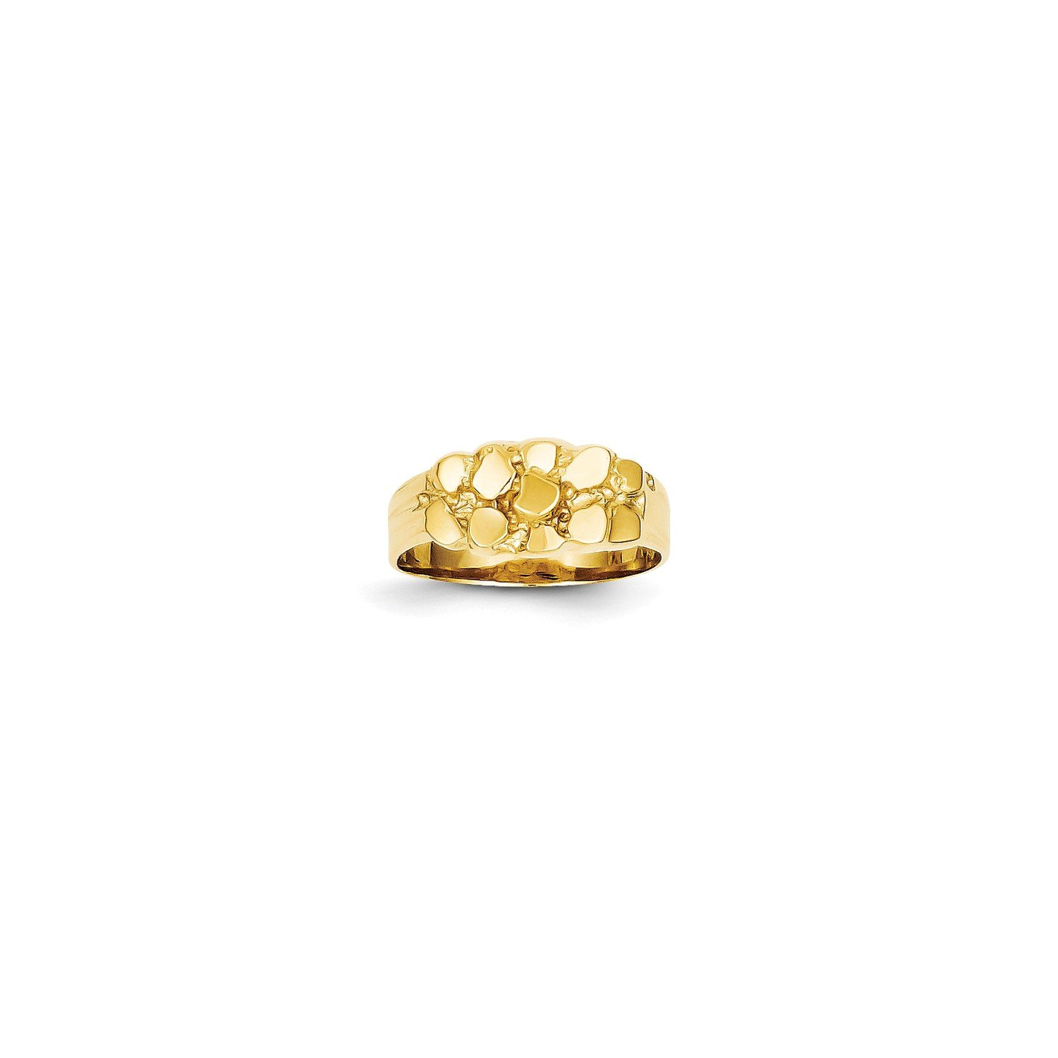 Roy Rose Jewelry 14K Yellow Gold 8mm Wide Nugget Ring , Size - 6