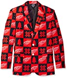 NHL Detroit Red Wings Mens Patches Ugly Business Jacket - Mens Size 46, 46 (Large)