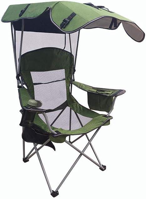 silla plegable doble con sombrilla