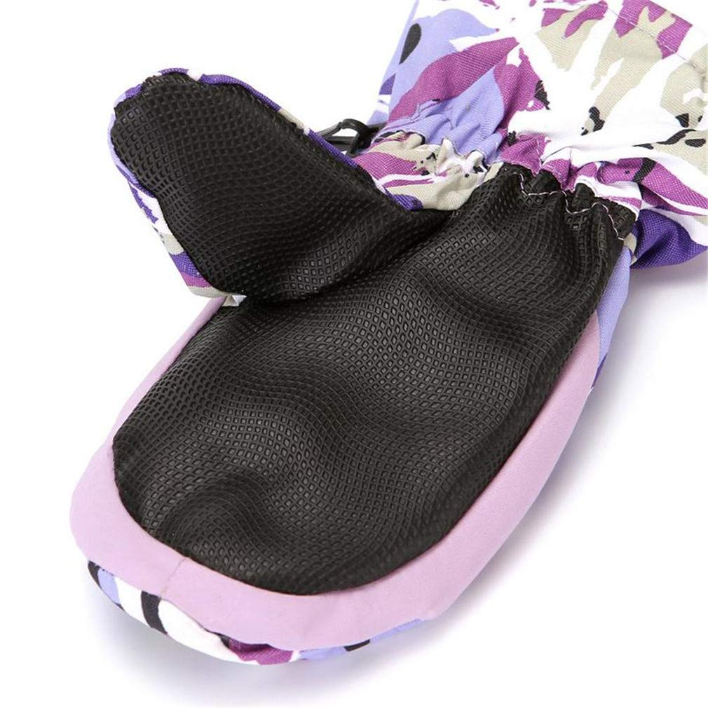 Boys//Girls Sports Waterproof Windproof Skiing Gloves