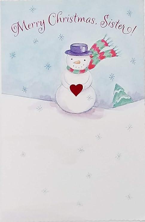 Merry Christmas Sister.Amazon Com Merry Christmas Sister Greeting Card You Re