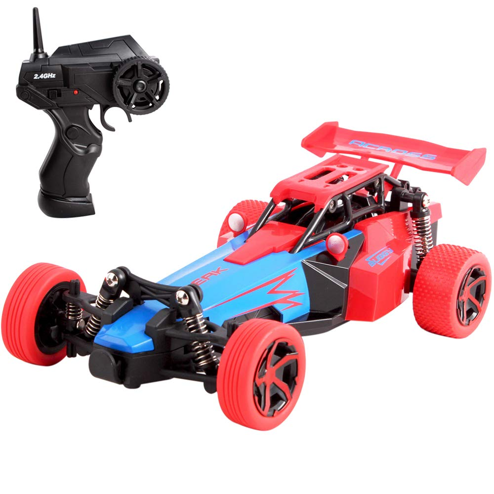 deAO Formula 1  RC Racing Car 2.4  GHz Remote Control High Speed Race Vehicle Toy Auto 2  WD off Road Buggie (Verde) RCF1-G