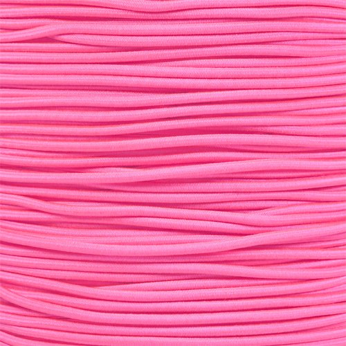 "1/8"" Shock Cord (also known as bungee cord) For Replacement, Repair, & Outdoors, Neon Pink, 50 feet by PARACORD PLANET"