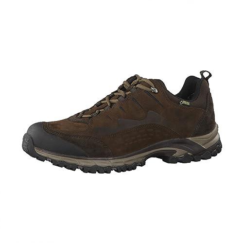 Meindl Barcelona GTX - Zapatillas para deportes de exterior de cuero nobuck para hombre dunkelbraun Barcelona GTX Marrón marrón oscuro Talla:48 baOsp