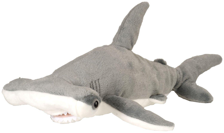 amazon com wild republic aq shark hammerhead plush