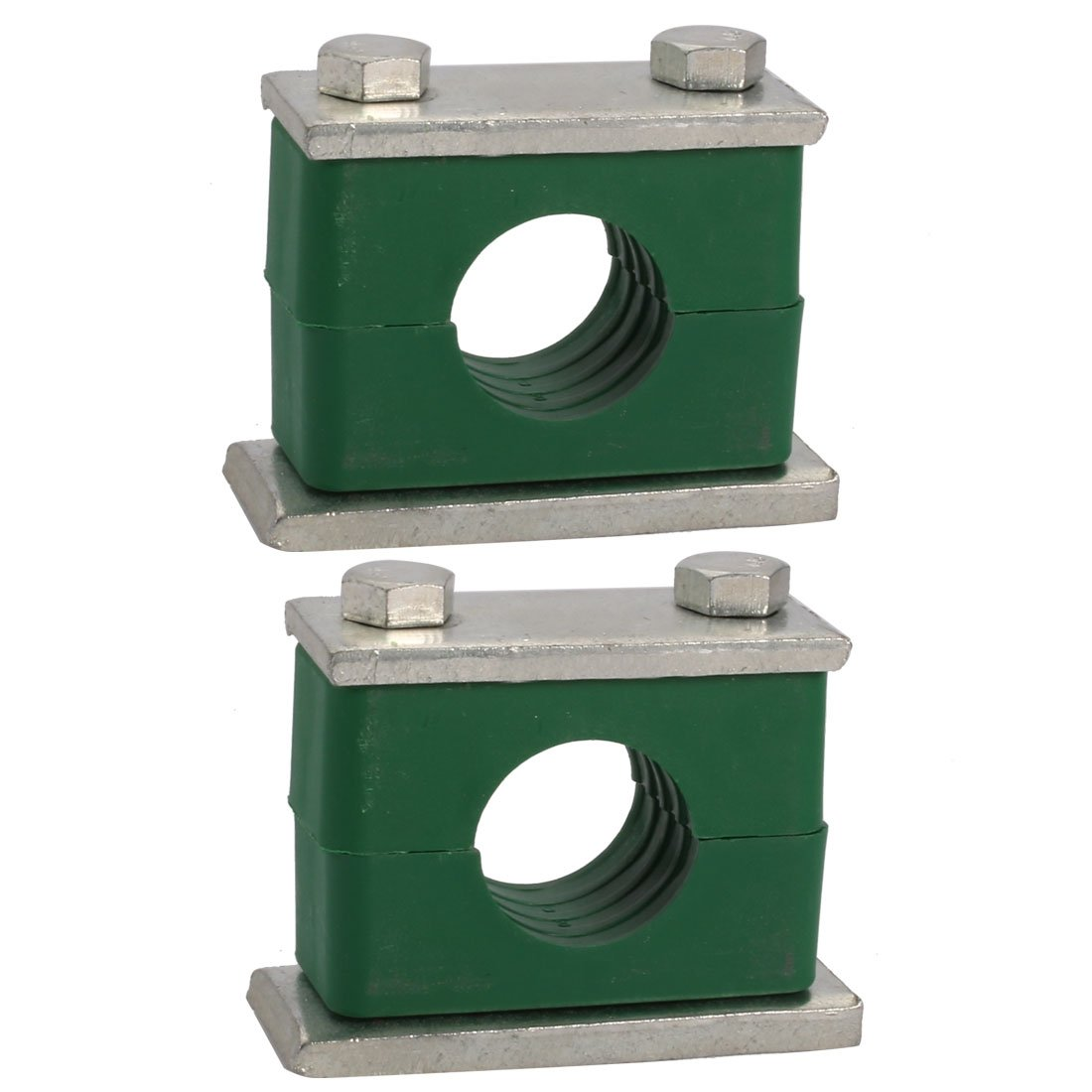 uxcell 30mm Fitting Dia Polypropylene Aluminum Heavy Series Hose Pipe Tube Clamp 2pcs
