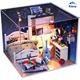 Kisoy Romantic and Cute Dollhouse Miniature DIY House Kit Creative Room Perfect DIY Gift for Friends,Lovers and Families(Take You To Watch Falling Stars)