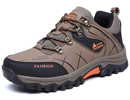 13f4aa58c496 ONENICE Men s Hiking Boots High Top Trekking Shoes Non Slip Outdoor Warm  Waterproof Walking Climbing Sneakers  Amazon.co.uk  Shoes   Bags
