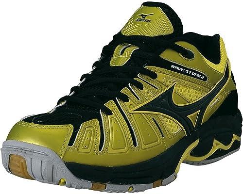 Mizuno Hombre Wave Storm 2 / 16KH-27345 Color: Bolt/Black: Amazon.es: Zapatos y complementos