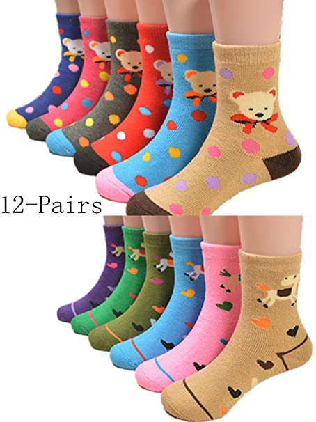 Unisex Baby Warm Winter Socks Cute Cartoon Socks For Infant Toddlers