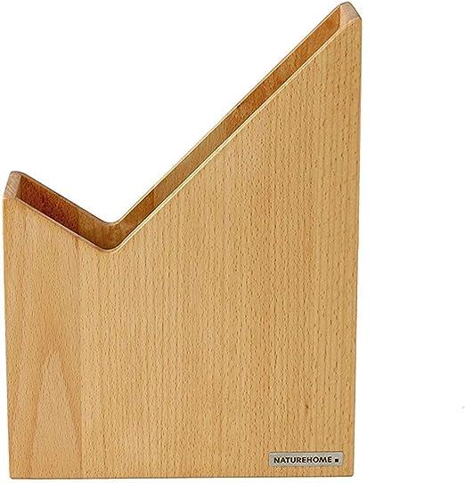 NATUREHOME Holz Stehsammler SKRIPT I Zeitschriftenbox I Massivholz handgefertigt aus Buche Natur ge/ölt I Stehordner Sammler I Stehende Ablage f/ür Schule Arbeitszimmer /& B/üro I Format DIN A4 I 8 x 23,5 x 20-31,5cm