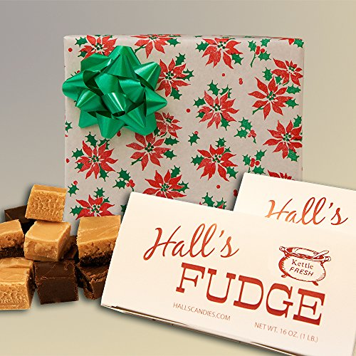 Christmas Poinsettia - Assorted Fudge Gift Box - Hall's Candies