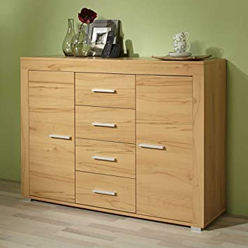 Pharao24 Esszimmer Sideboard In Kernbuche Dekor 120 Cm Breit Amazon