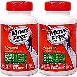 免税包邮Schiff Move Free氨糖维骨力 氨基葡萄糖MSM 绿盒120粒×2 美国原装正品