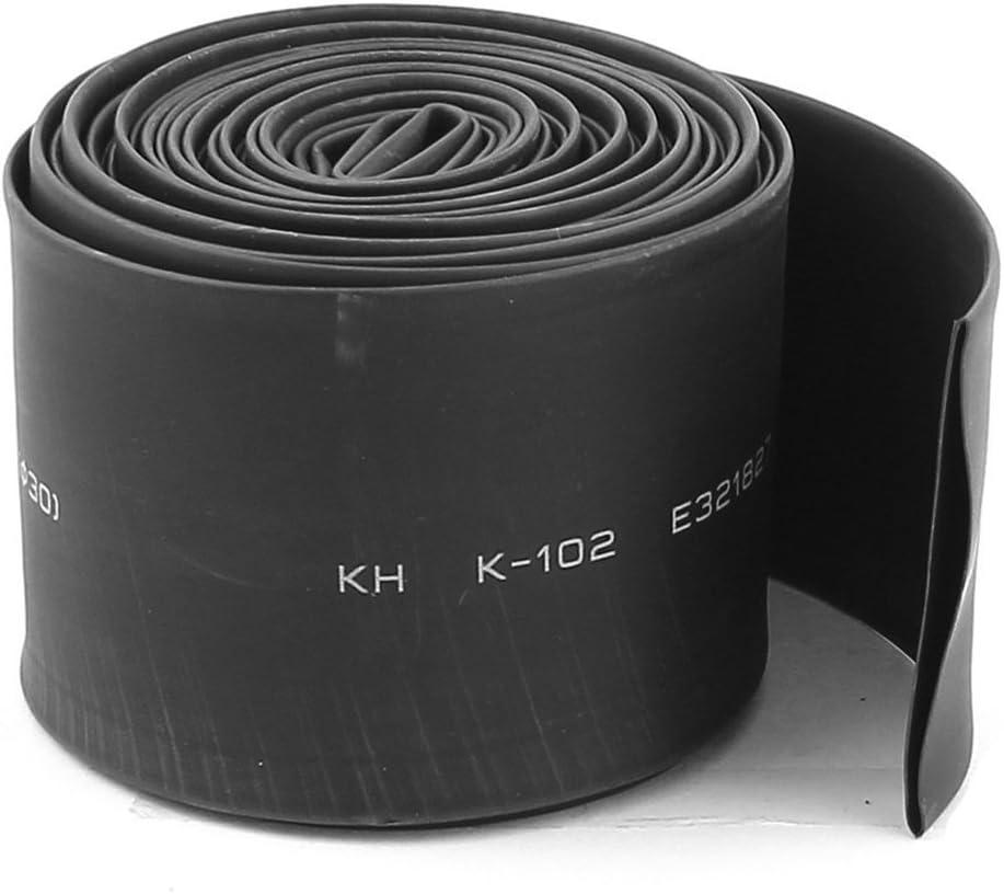 Bestlymood tubo termocontraible de 30 mm de diametro de ratio de 2:1 tubo termocontraible de calor de poliolefina de 4m