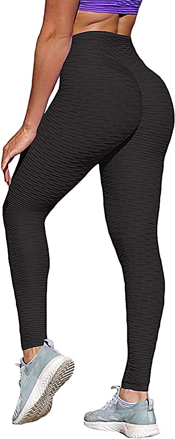 STARBILD Ladies Ruched Butt Lifting Leggings with Pockets High Waist Squat Proof Compression Gym Leggings Fitness Tights