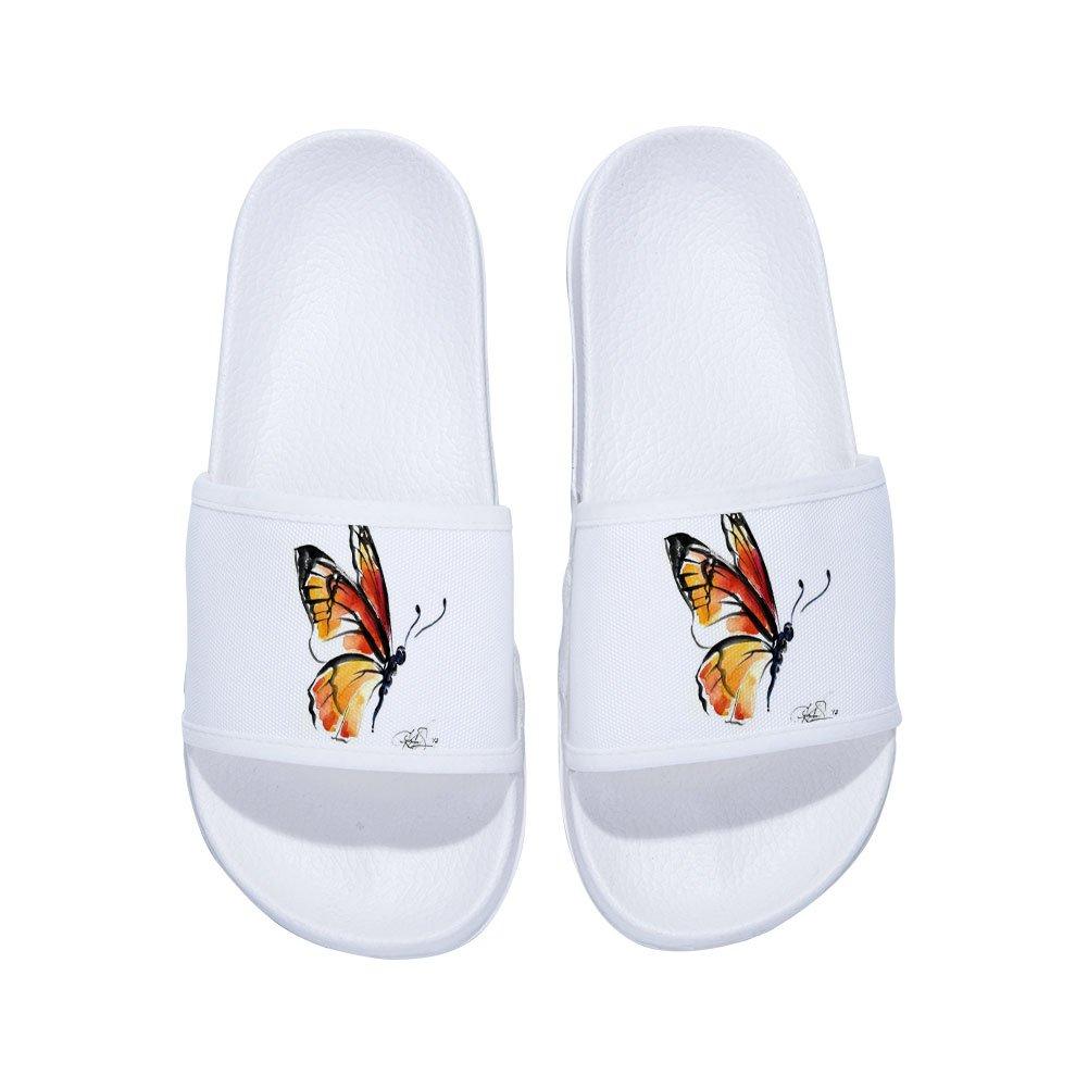 Drew Toby Boys Girls Slide Sandals Comfortable Soft Bathroom Sandal Shower Slippers Butterfly