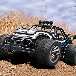 KOOWHEEL Electric RC Car Off road Cars 2.4GHz Radio Remote Control Truck Monster 1:16 Scale 2WD High Speed Crawler USB Charger Car with 2 Rechargeable Battery