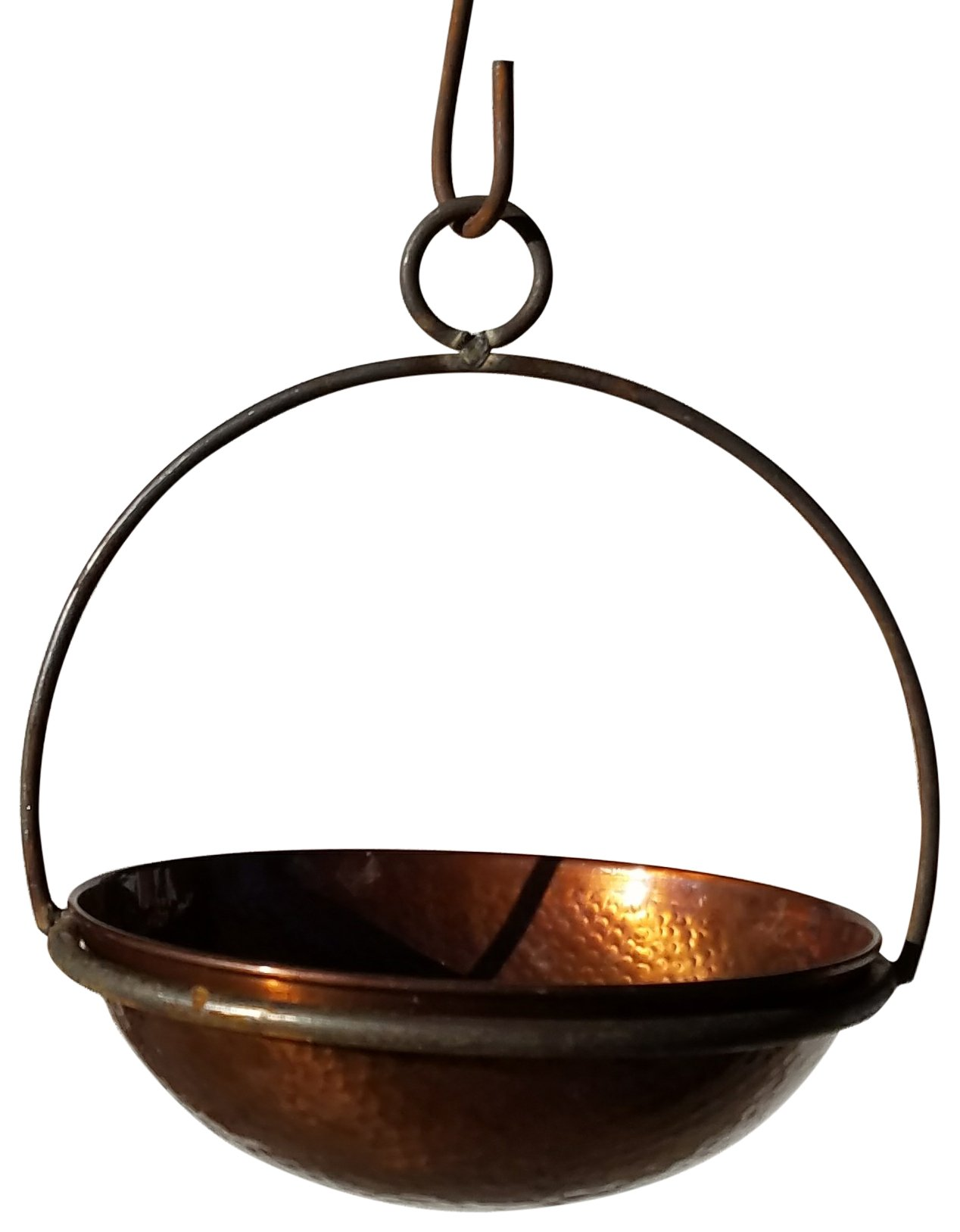 Passage CH10-WOK-10-DHDC Hanging Planter, Hammered Copper