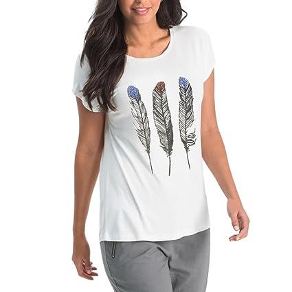 LILICAT® Camisetas Mujer Verano, Camiseta Tallas Grandes Manga Corta Strappy con Hombros de Moda
