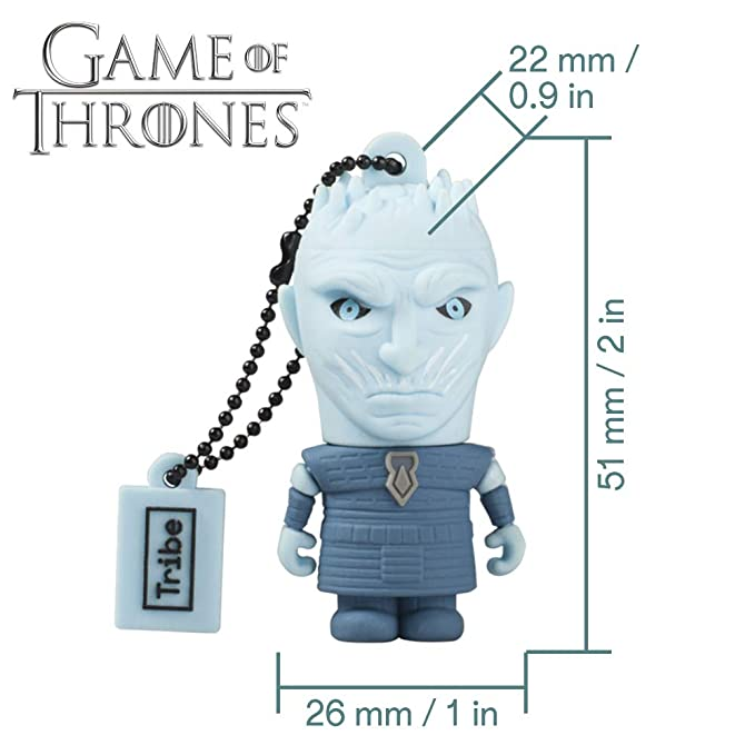Llave USB 16 GB Night King - Memoria Flash Drive 2.0 Original Game of Thrones, Tribe FD032508