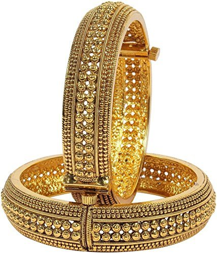 Zeneme Royal Style Openable Broad Gold Plated Antique Bangles Jewellery For Women and Girls (2.4  sc 1 st  Amazon.in & Buy Zeneme Royal Style Openable Broad Gold Plated Antique Bangles ...