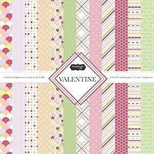 Scrapbook Customs Themed Paper Scrapbook Kit, Valentine's