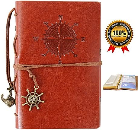 Refillable Leather Notebook Travelers Journals product image