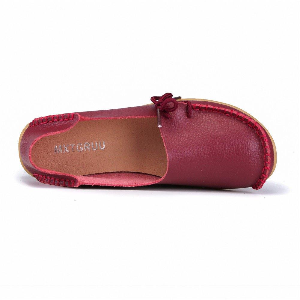a54f1a1f32e9ac ... MXTGRUU Women s Leather Casual Slip-ONS Shoes B07DMKT84Y 8.5 B(M) B( ...
