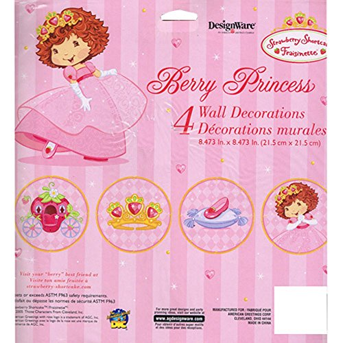 Strawberry Shortcake 'Berry Princess' Wall Decorations (4pc)