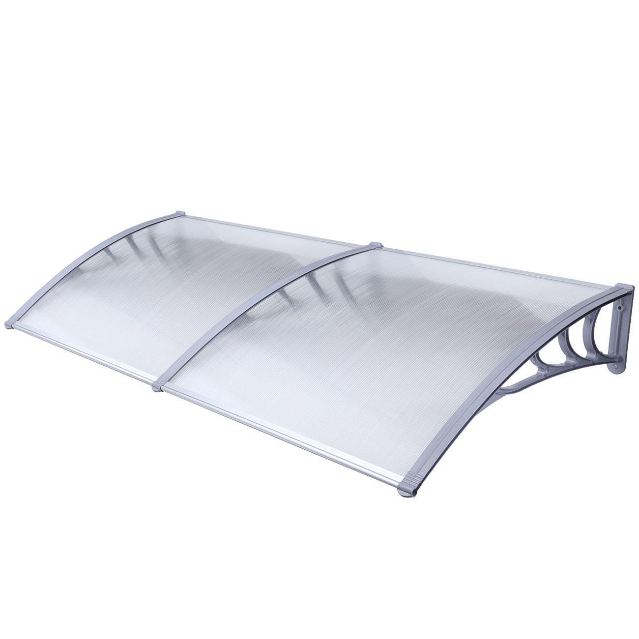 ALEKO DC40X80 Polycarbonate Outdoor Window or Door Canopy 40 x 80 Inches Gray by ALEKO