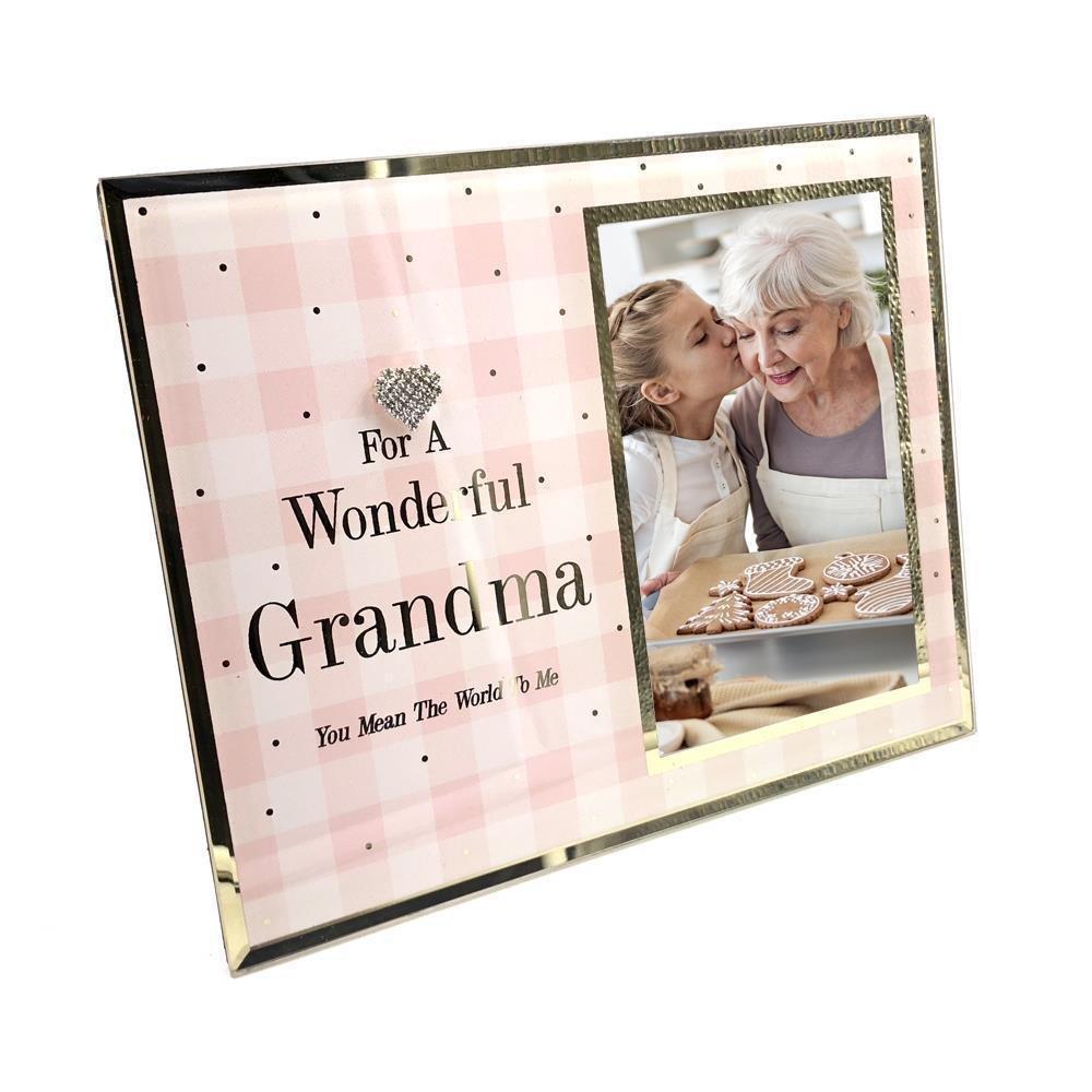 ukgiftstoreonline Wonderful Grandma glass picture photo frame 6'x4' (No Personalaisation)