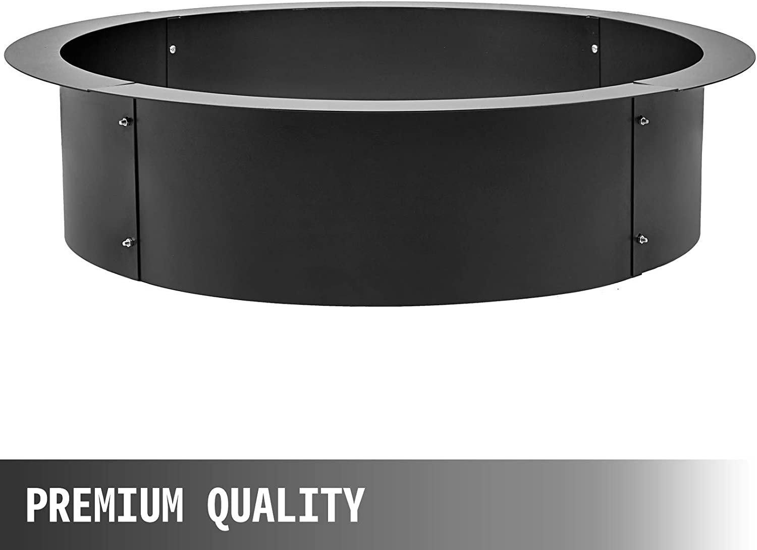 VBENLEM Fire Pit Ring 36 Inch Outsidex 30 Inch Inside Solid Steel 3.0mm Thick Fire Pit Liner DIY Campfire Ring Above or In-Ground for Outdoor
