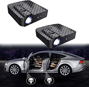 MIVISO Upgraded Car Door Led Logo Projector Light No Magnet Wireless Lamp Welcome Ghost Shadow Light 2PCS Accept Custom Logo