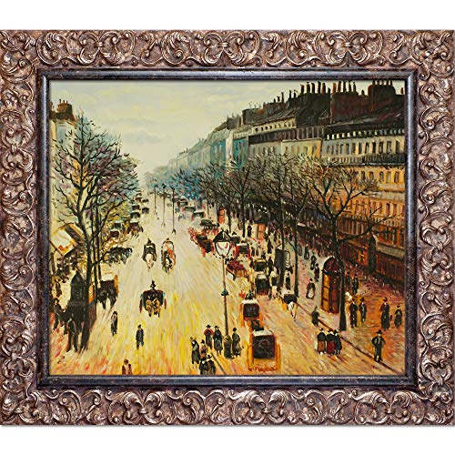 - La Pastiche overstockArt Boulevard Montmartre on A Winter Morning by Camille Pissarro with Brasovia Framed Artwork