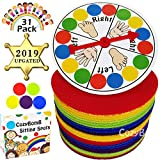 CozyBomB Carpet Sit Markers Spots for Classroom Kids - Paw Rug Student Teachers - Round Sitting Circle with 4-Inch 30-Pack Dots for Preschool, Kindergarten Twister Floor Musical XMas Party Game
