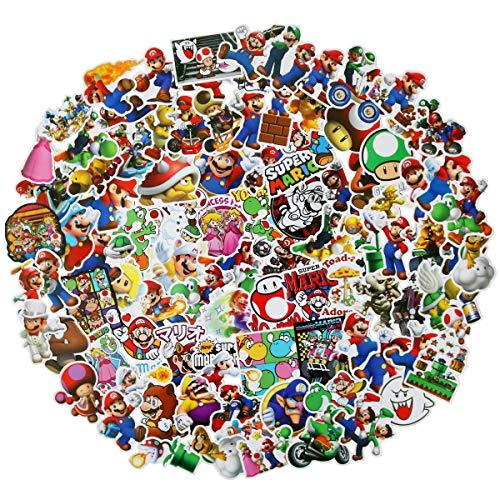 Meet Holiday Super Mario Stickers 100 PCS Cute Cartoon Game Comics Vinyl Waterproof Stickers Kids Room Decor Sticker (Super Mario)]()