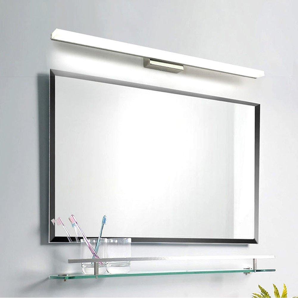 UPON SUN Modern Bathroom Wall Light Mirror Front LED Lighting Waterproof Antifogging LED Tube Vanity Light (16W 31.5 inch, Cold White)
