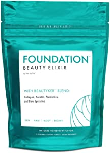 Hair La Vie Foundation Beauty Elixir with Collagen, Keratin and Prebiotics for a Healthy Gut, Clear Skin & Thicker Healthier Hair Growth