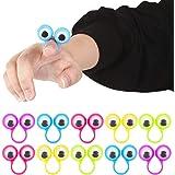 Shindel Eye Finger Puppets, Googly Eyes Rings Eyeball Ring Eye Monster Finger for Kids Party Favor Easter Toys, 25 PCS