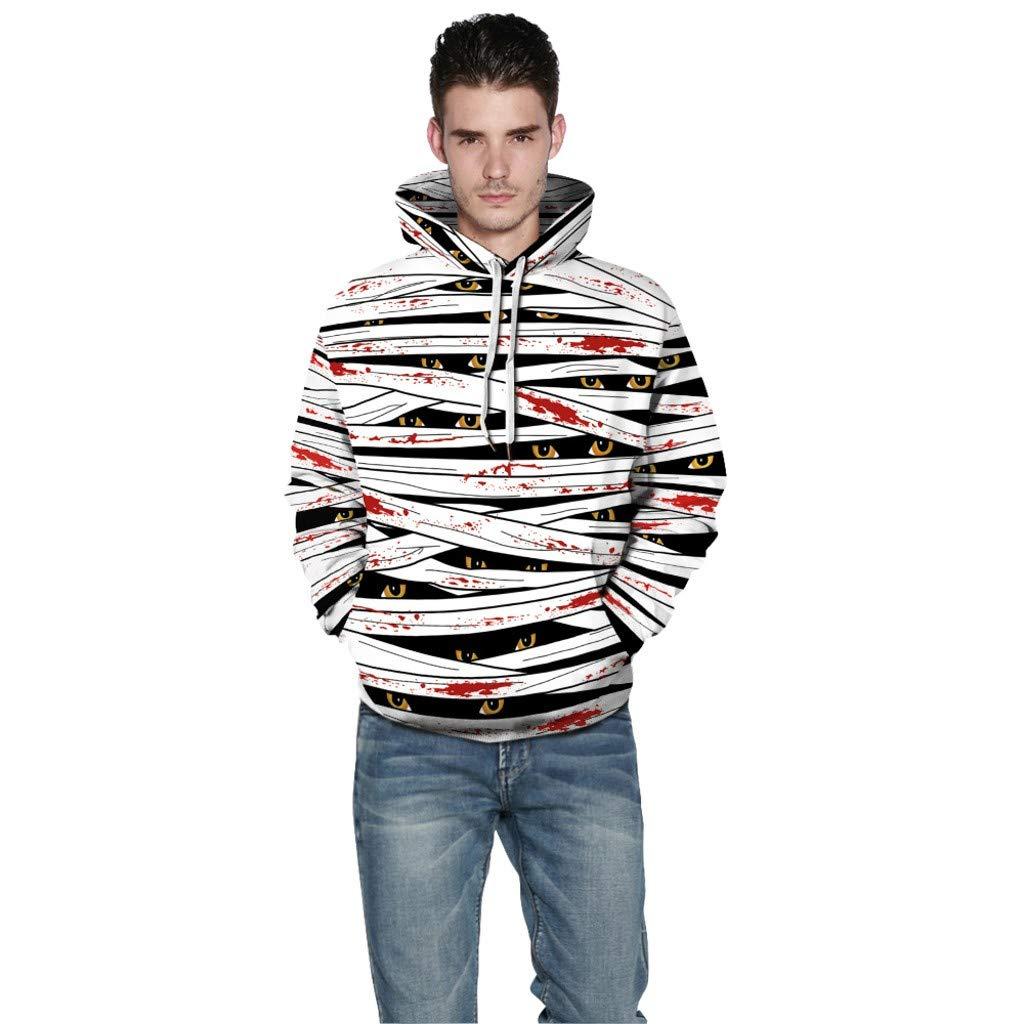 Jessie storee Helloween Hooded Sweatshirt Skeleton Smoke Print Pullover Hoodie Women Men Couples Unisex Horror Terror Sweatshirts Clothing Large Size Sweater Loose Baseball Uniform Tide,