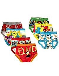 Sesame Street Big Boys' 7 Pack-Boy Calzones para Niños