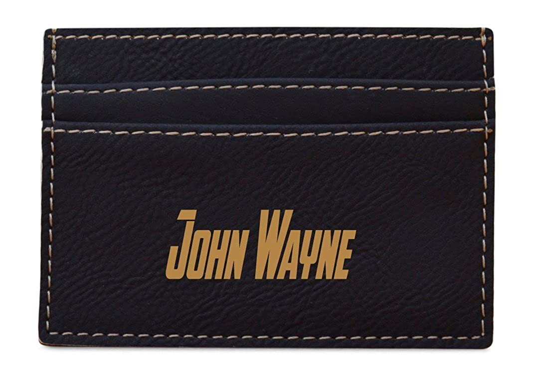 FREE ENGRAVING Black Personalized leather money clip Wallet,Money Clip For Men